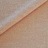 Jersey Stoff Lurex Meterware hellrosa / lachsfarben Mode Stretch Bekleidungsstoff glänzend glitzer