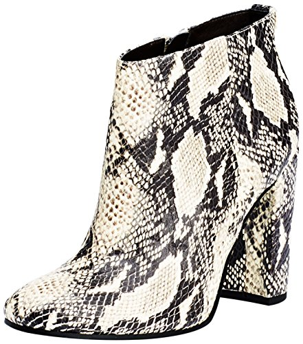 Sam Edelman Damen Cambell Kurzschaft Stiefel, Beige (Modern Ivory Rock Snake), 39 EU, 9 US, 7 UK (Snake Leather Stiefel)
