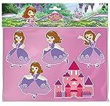 Lena 65791 - Zeichenschablonen Set Disney's Sofia die Erste, Malset mit 2 Schablonen mit Motiven aus dem Disney Film und passenden Farbvorlagen, Malschablonen Set für Kinder ab 3 Jahre