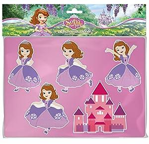 Lena 65791-Caracteres Plantillas Disney Sofía la Primera, schreibwaren, 26x 19cm