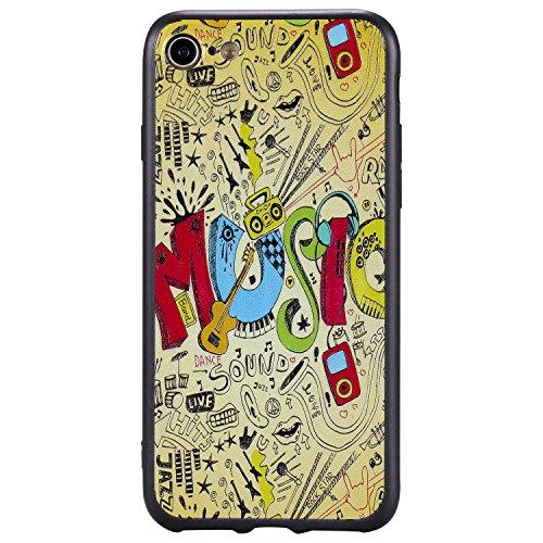 Nancen Case Apple iPhone 6 / 6S (4,7 Zoll) Gemaltes Muster Handy Hülle . Weich TPU Silikon Case music