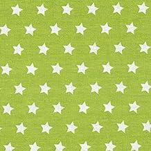 Tela algodón verde claro con estrellas blancas 8 mm, por metro