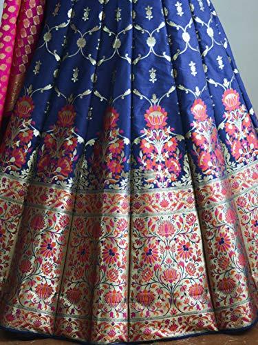 211ddc093f 48% OFF on pujia mills Women's Banarasi Brocade Jacquard Lehenga Choli  (Blue, ...