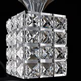 QWER Da soffitto pendente lampada luce di arte moderna di cristallo di ferro singola testa tre LED di testa lampadario Ristorante Bar con un lampadario, 4W LED Warm White tungsteno, Testa singola ,10*18cm - QWER - amazon.it
