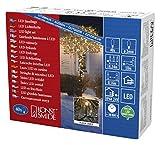 Konstsmide 3610-800 Micro LED Lichterkette/für Außen (IP44) / VDE geprüft / 24V Außentrafo / 40 bernsteinfarbene Dioden/schwarzes Kabel