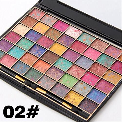 Palette de Fard à paupières, FantasyDay 48 Couleurs Professionnelle Shimmer Matte Ultra Pigmenté Bases de Ombre à paupières Maquillage Palette Cosmétique Set - Eyeshadow Makeup Beauty Kit #2