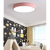 Ultra Thin Round LED Ceiling Light, Modern Ceiling Lights, 3 Color in One Flush Mount Ceiling Light Family Home Living Room L