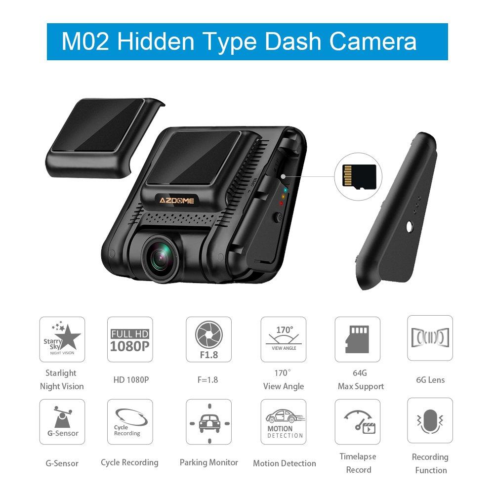 Cámara de Coche Dashcam FULL HD 1080P Dash Cam de Gran Angular 170 ...