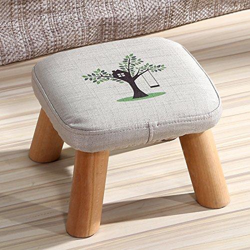 Dana Carrie En d'autres selles banc de chaussures sur une table basse tabouret bas en bois massif et tissus adultes enfants créatifs élégante petite chaise canapé tabouret rond, président - Petit arbre