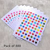Pack of 270 Gold Silver Red Multicolor Star Stickers