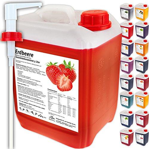 C.P. Sports Getränkekonzentrat 5 Liter Getränke Sirup Electrolyte Mineral-Vitamin Konzentrat versch. Sorten inkl. DOSIERSPENDER mit L-Carnitin (Melone)