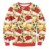 Erwachsene 3D Digital Hässliche Weihnachts Sweatshirt Pullover Für Frauen L