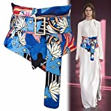 YISANLING-YD The new spring and summer 2018 Piaodai sub folk style printing female girdle wide decorative shirt dress cloth belt width