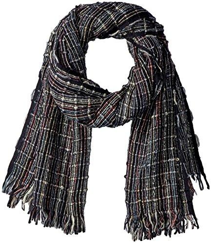 Connection-schal (French Connection Damen Schal Zellar Multicolour Weave Scarf, Blau (Utility Blue Multi 40), One Size)