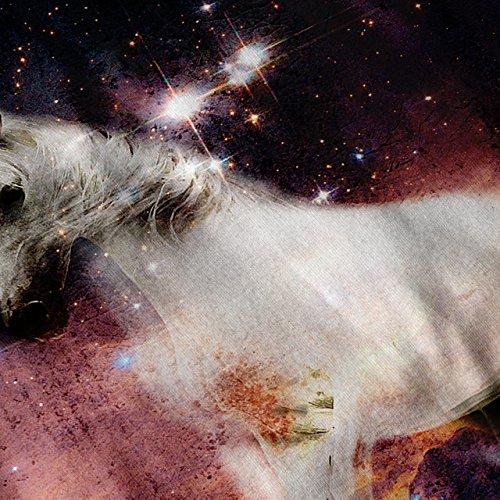 Pferd Kosmos Galaxis Platz Traum Reiten Damen S-2XL Muskelshirt | Wellcoda Schwarz