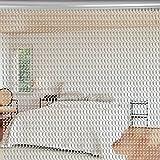 Aluminium Metallkette Vorhang Schädlingsbekämpfung Ketten Vorhang Türvorhang Sichtschutz/Insektenschutz 90 x 214,5cm (Silber)