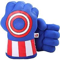 DDGOJUME Blu Captain Gloves, 1 Paio di Morbidi guantoni da Boxe Capitano Fist Hand in Peluche per Bambini e Regali per…