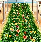 YUYU Blume Rasen 3D Boden Aufkleber PVC Material DIY Wohnkultur Aufkleber für Kinderzimmer Baby Schlafzimmer Kindergarten Dekoration