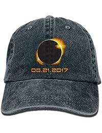 17f2915f73d8f ONE-HEART HR Total Solar Eclipse 2017 Baseball Caps Denim Men Women Hats