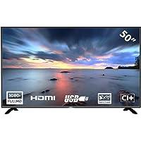 HKC 50F2 Téléviseur LED de 127 cm (50 Pouces) (Full HD, Triple Tuner, CI +, HDMI, Lecteur multimédia Via USB 2.0)