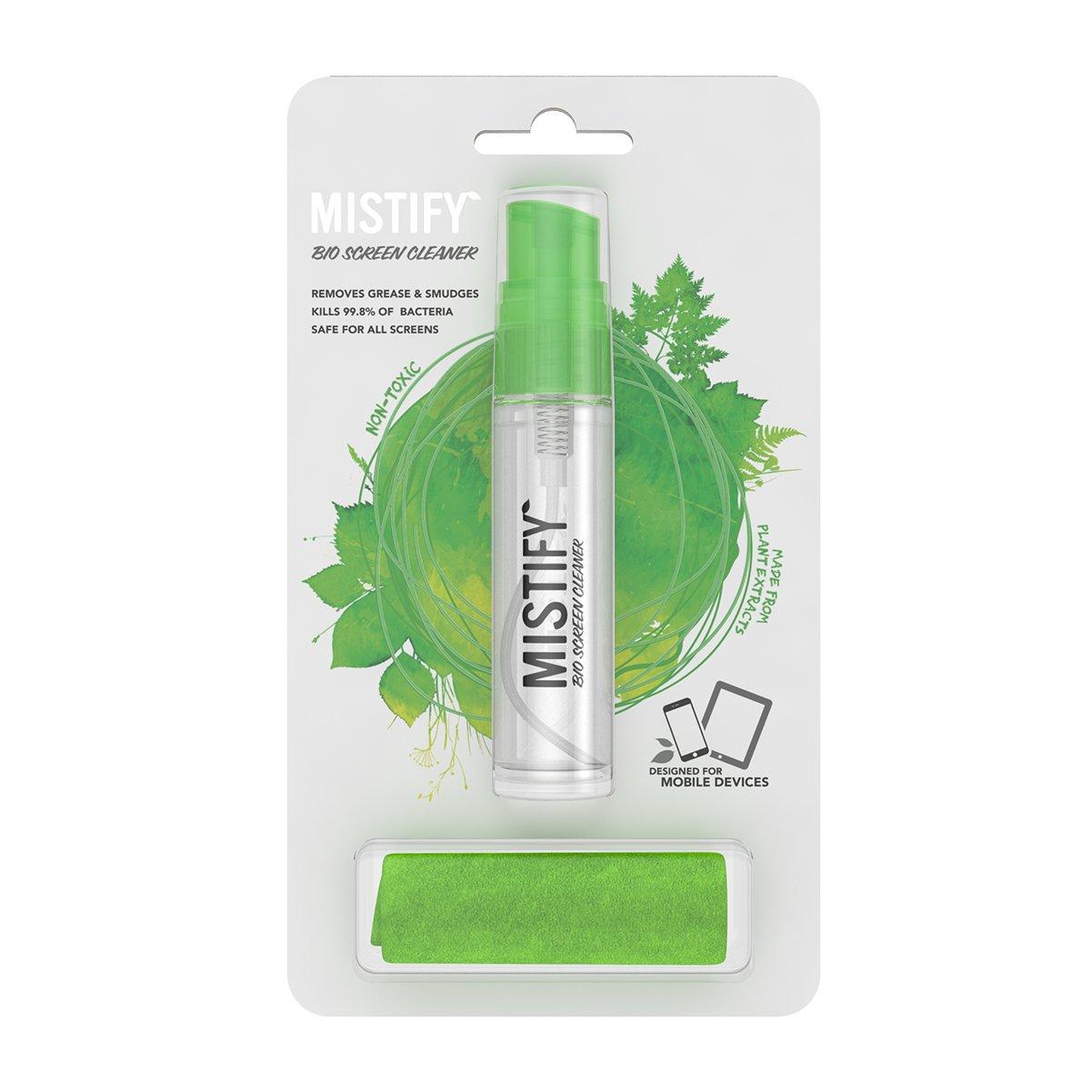 Mistify Spray Naturale per lo Schermo 40 ml + Panno Microfibre Antibatterico (Non Tossico, Sicuro, E