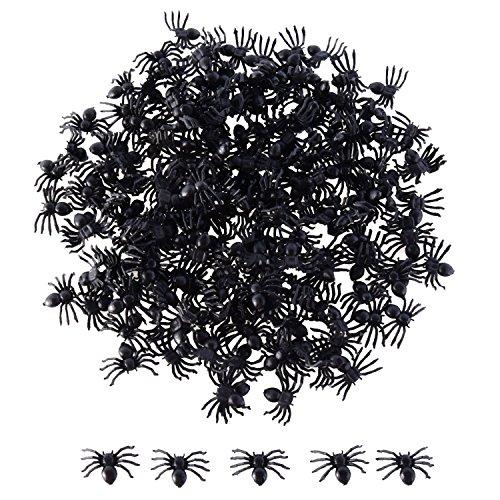Sumind 200 Stück Halloween Schwarz Spinnen Plastik Spinnen Party Angebot für Halloween (Die Halloween Dekoration Für)