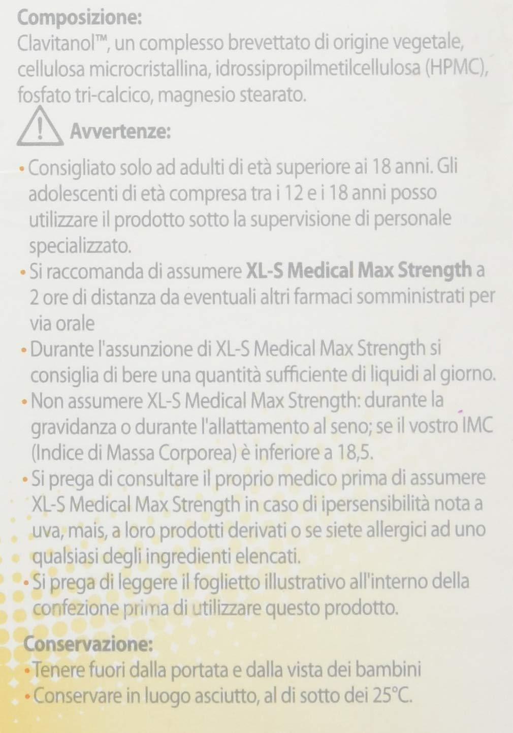 XL-S MEDICAL Max Strength Tripla Azione Trattamento Dimagrante Forte, Pastiglie Dietetiche per una Gestione Ottimale del… 2 spesavip