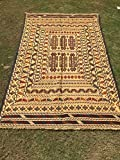 ARTICLE # 6053 SUPERB Hand Made Sumak WIth Needle Work Rug 189 x 124 cm- 6.2 x 4.0 Feet