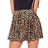 Damen Frauen Rock Mini Skirt Leoparden Korn Mode Sexy Sommer Braun Size 4XL