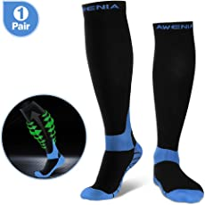 Awenia Kompressionsstrümpfe Sport Kompressionssocken Laufen für Ihre schmerzenden Fersen, ideales Geschenk für Läufer
