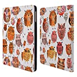 Head Case Designs Offizielle Ninola Bezaubernde Euelen Muster 2 Brieftasche Handyhülle aus Leder für iPad Air (2013)