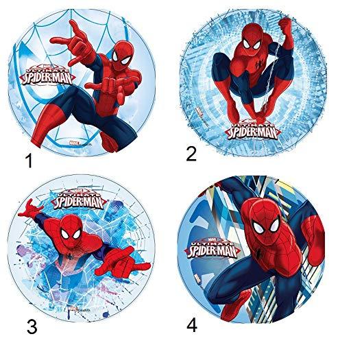 Générique - - Disc Azyme Mod Spiderman Marvel zufällige Dekoration Kuchen Kinder 21 cm - 047