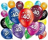 FABSUD 20Stück Luftballons Geburtstag 40Jahre