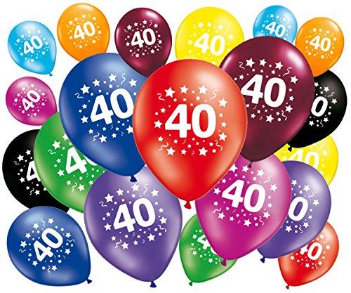 Lote de 20globos cumpleaños 40años