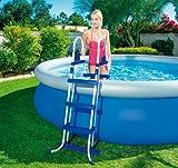 Leiter für Pools Struktur aus Metall X Pool Höhe max 84 cm. Gradini 2