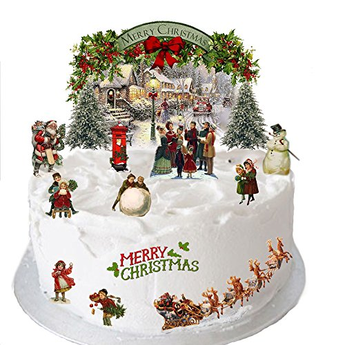 Christmas cake decorations amazon