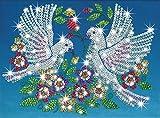 KSG 0618 - Sequin Art und Beads Tauben