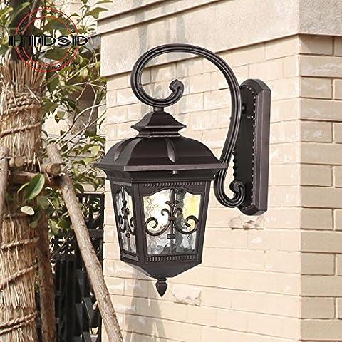 GHT.A Continental minimalista retrò giardino patio/balcone porte delle lampade impermeabile corridoio camera da letto Wc Lampada da parete del ristorante prima di lampada a specchio
