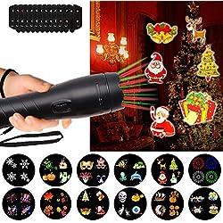 LTPAG Lámparas Proyector de Decoracion, 12 Modes Linterna LED y Iluminación de Ambiente Infantil Nocturna Luces Proyector de Bebes Interior y Exterior, Fiesta Cumpleaños, Navidad, Regalo de Niños