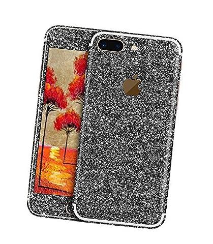 Stillshine écran autocollant bling pleine case coque du film de protection brillant pour le corps pour iPhone 7 Plus (noir)
