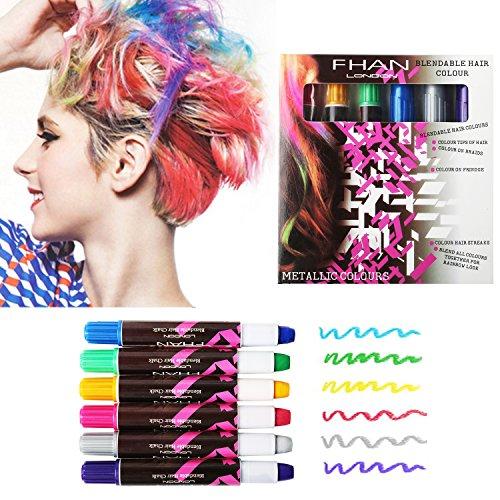 Amile Haarkreiden, temporäre und ungiftig Spitzenkreide in einem versiegelten Behälter, Haarfarbe
