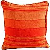 Homescapes Kissenhülle Morocco in Streifen-Design Kissenbezug 45 x 45 cm aus 100% reiner Baumwolle mit Reißverschluss in terracotta