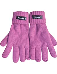 Women's Fleece Lined Thermal Thinsulate Gloves with Turnover Cuff