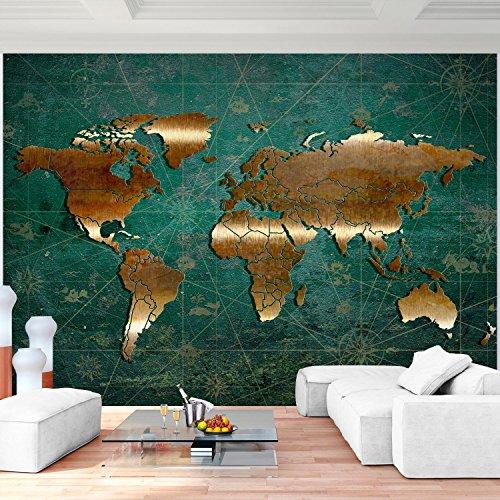 Fototapete Weltkarte Vlies Wand Tapete Wohnzimmer Schlafzimmer Büro Flur  Dekoration Wandbilder XXL Moderne Wanddeko   100