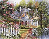 "Plaid:Craft, Number Kit, quadro da dipingere a tema ""giardino vittoriano"", dimensioni 40,6cm x 50,8cm"