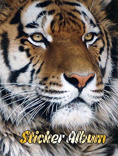 bum Stickerbuch leer zum Sammeln für Kinder, DIN A5 Format, Tiere - Tiger, 1 Stück (Sticker Album)