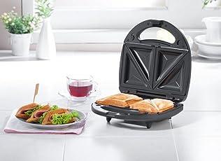 Nova VSM/NSM 2409 750-Watt 2-Slice Sandwich Maker (Black with Silver)