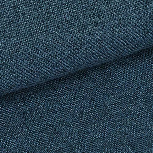 NOVELY® Erfurt eleganter Möbelstoff | Ultra CLEAN | SCHWER ENTFLAMMBER | HOCHSTRAPAZIERFÄHIG | ELEGANT (11 Azur Blau) -