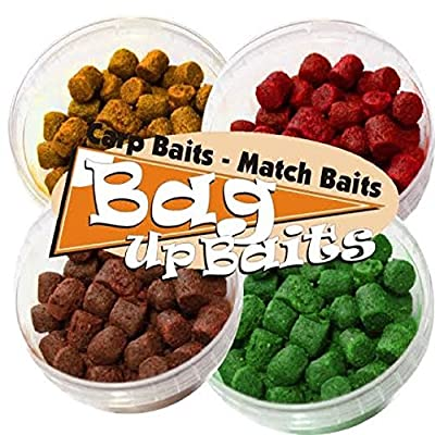 Bag Up Baits Boosted 10mm Carp Soft Hook Fishing Pellets Multipack - Krill-Scopex-Halibut-Crab '' Excellent Flavoured Fishing Pellets For Carp, Bream, Roach, Tench Barbel, With Free Delivery by Bag Up Baits