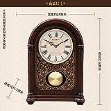 y-hui Solide Holz-Grundlage mit Die alte Pendeluhr in großen Uhren Uhr im Wohnzimmer, alles die Stelle des alte Pendeluhr, Holz massiv der Zeitmessung GD401